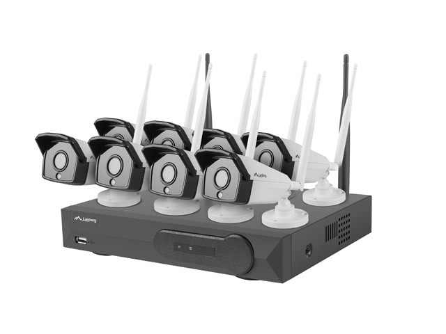SURVEILLANCE KIT NVR WIFI 8 CHANNELS + 8 CAMERAS 2MP WITH ACCESSORIES LANBERG
